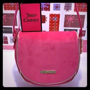 NEW/ NWT Juicy Couture Fuschia CrossbodySling Bag